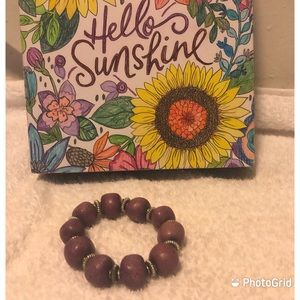 3for$15 Purple Stone like Elastic Stretch Bracelet